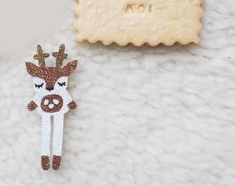 Deer - Augustin brooch - Handmade - handmade - La Rochelle