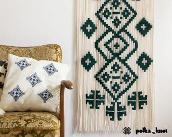 "Polka_knot ""Etno Collection"" macrame wall hanging"