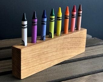 Wooden Crayon Holder - Crayon Organizer - Crayon Caddy - Art Storage - Art Supply - Colored Pencil Holder - Craft Supplies