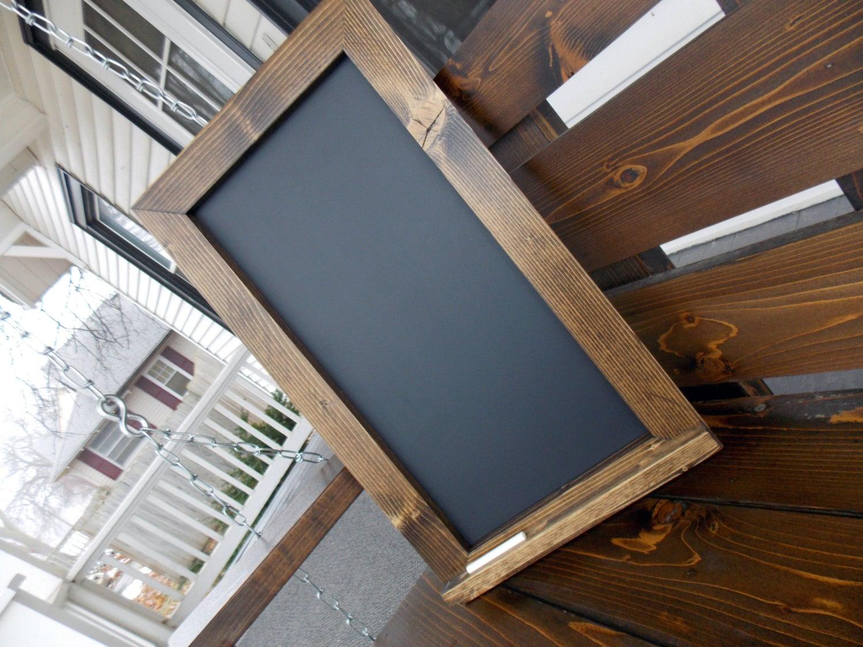 Rustikale Holz eingerahmt Tafel Küche Tafel große Tafel | Etsy