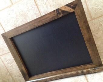 Rustic Chalkboard With Ledge - Wooden Chalkboard - Wood Chalkboard - Wood Framed Chalkboard - Kitchen Chalkboard - Menu Chalkboard - 18x24