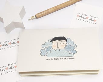 "Notebook ""With head in the clouds"""