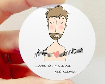 "Brooch ""with music in the Heart"""