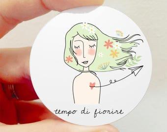 """""""Flowering Time"""" brooch"""