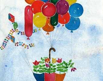 Flower Umbrella Balloons