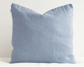 Linen Decorative Pillow Case , Linen Cushion Cover with Zipper,  Custom Color Linen Pillow Case, Linen Gift