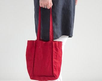 08937dbf8e1a Pure Linen Tote Bag - Natural Linen Tote Bag - Organic Bag - Linen Shopping  Bag - Linen Shoulder Bag - Linen Tote Bag - Small Linen Bags
