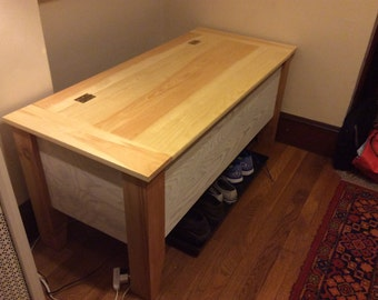 Hand Made Custom Storage Bench