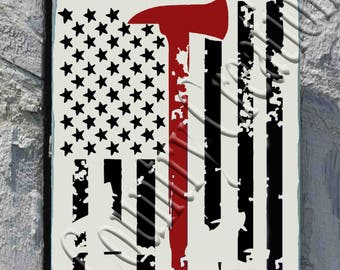 Firefighter USA Flag