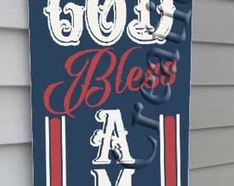 God Bless American Vertical, SVG, PNG, JPEG