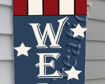 Welcome Flag Vertical design, SVG, PNG, JPEG