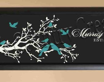 Tree Branch Bird Family, Personalize, Family Tree,  SVG, ,PNG, JPEG