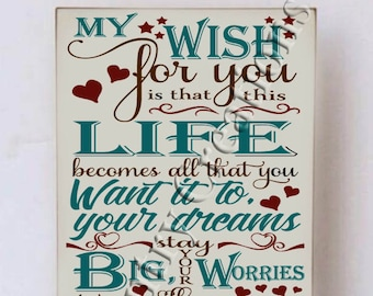 My Wish For You Sign Etsy