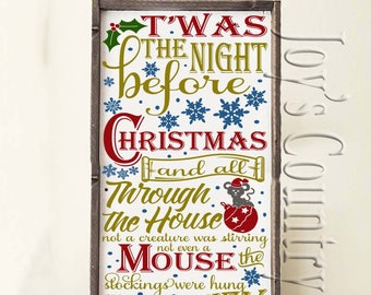 T'was the night before Christmas   SVG, PNG, JPEG