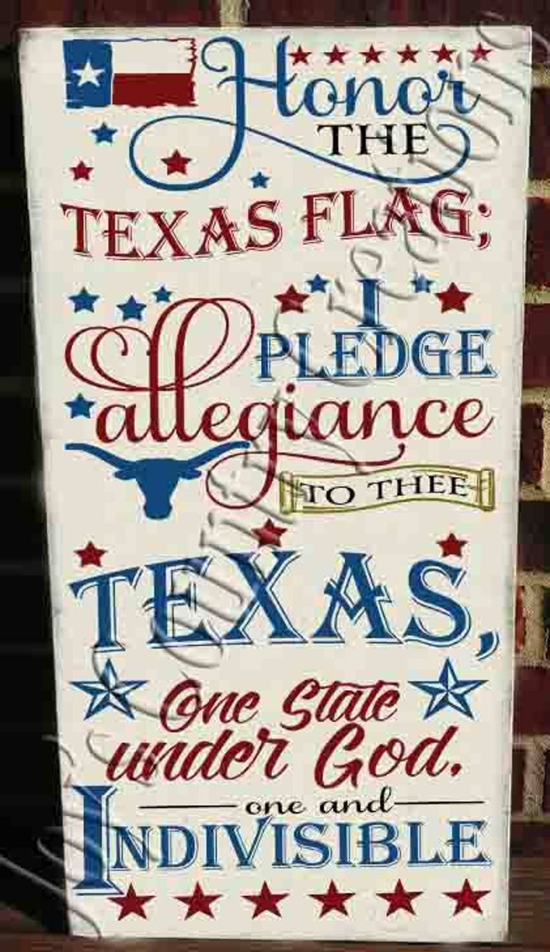 picture about Texas Pledge Printable titled Texas Flag Pledge of Allegiance SVG, PNG, JPEG