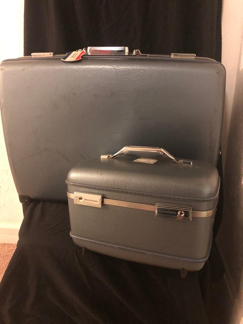 0f7e9068e Vintage American Tourister Luggage 2pc.   Etsy