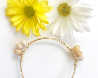 Neutral Stone Stackable Bangle