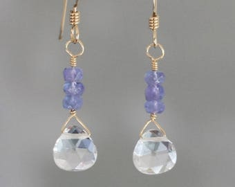 bead earrings, elegant earrings, Crystal earrings, natural stone earrings, delicate earrings, AAA quality, short earrings, dangle earrings