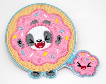 Donut Panda Patch