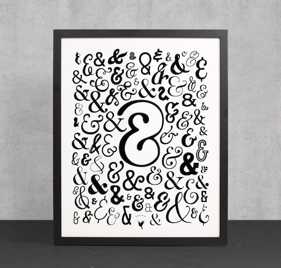 "Ampersand ""&"" Giclée Art Print 