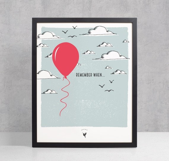 Remember When..., Love Giclee Art Print | Gift for her | Nostalgia | Remembrance | Anniversary Gift | Celebrating Memories