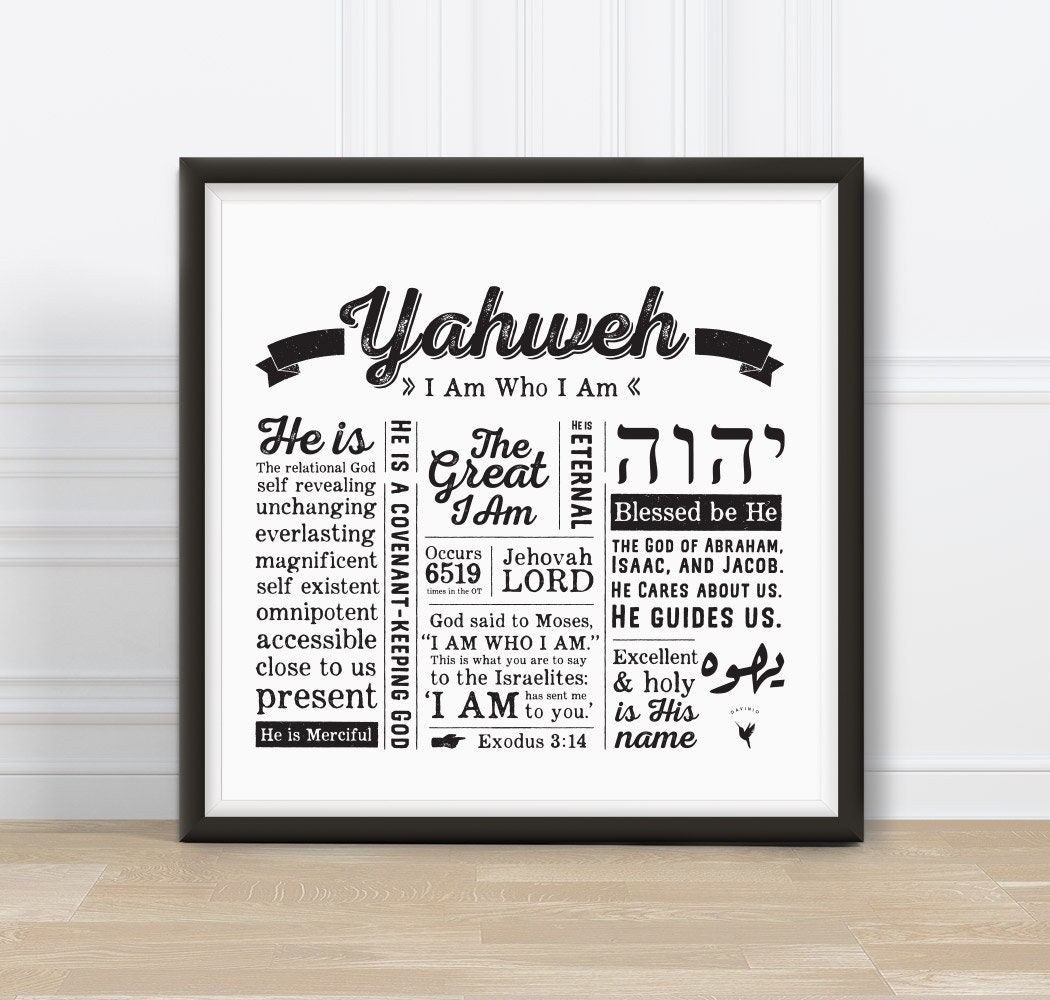 Yahweh Square Giclée Art Print | Names of God Collection | I