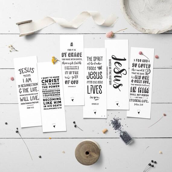 Resurrection // Artisanal Bookmark Set of (6) // Book Lovers | Christian Bookmarks | Easter | Victory in Jesus | John 3:16 | Ephesians 2 8
