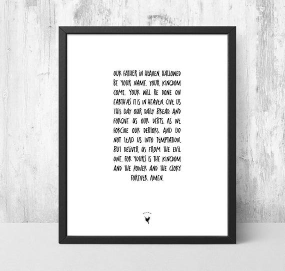 The Lord's Payer Giclée Art Print | Modern Christian Art | Scripture art | Matthew 6:9-13 | Our Father in heaven, Hallowed be Your name.