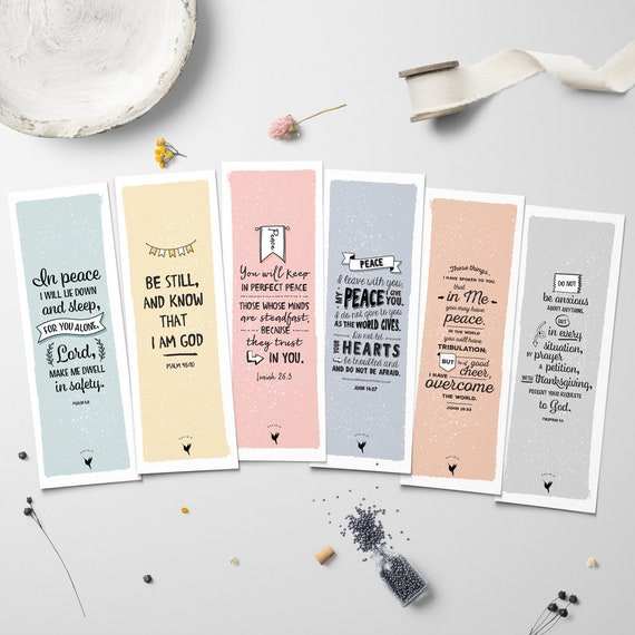 Peace is your inheritance // Artisanal Bookmark Set of (6) // Book Lovers | Christian Bookmarks | Peace Do Not Worry | John 16:33 | Phil 4 6