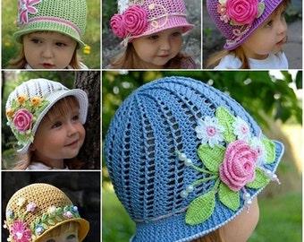 3c32bd04834 Girls crochet hats