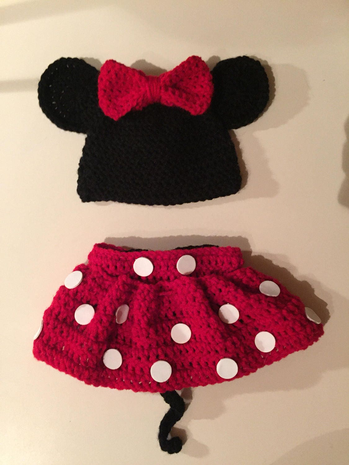 Crochet Minnie Mouse Outfit Newborn 12 Months Etsy