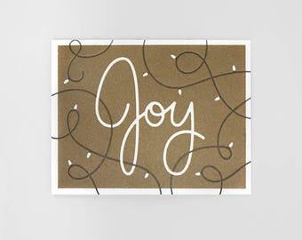 Joy Letterpress Holiday Card