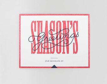 Season's Greetings Letterpress Holiday Card