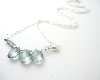 Green Quartz Mystic Quartz Necklace Sterling Silver Necklace Gemstone Sterling Silver Necklace November Birthstone
