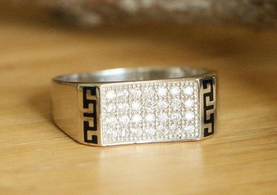 Handmade Hurrem Sultan 925 Sterling Silver Onyx Hamsa Woman Adjustable Ring Jewelry & Watches