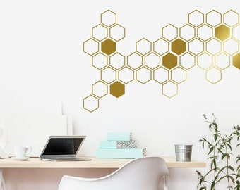 More Colors. Honeycomb Wall Decals   Geometric ...