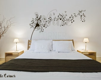 ART-BEDROOM KITCHEN Large Vinyl Wall Sticker CLEF MUSIC NOTES WALL DECAL