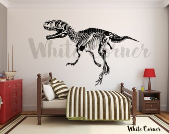 Rta616 Dino Dinosaur Jurassic Park Skeleton Skull Boys Gift Kids Rom Bedroom  Gift Wall Decal Vinyl