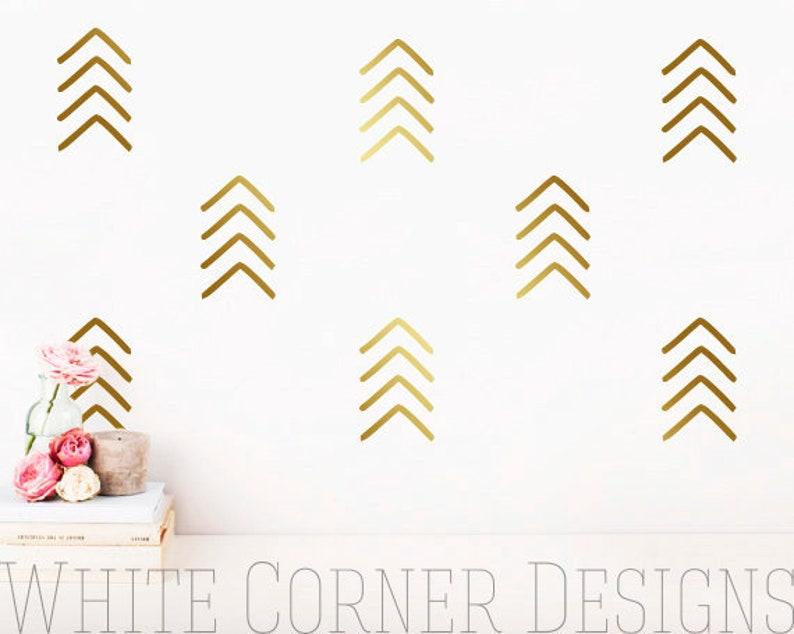 Arrow Wall Decals - Geometric Decals, Nursery Decals, Unique Vinyl Decals,  Modern Wall Decals, Arrow Decals ga 141