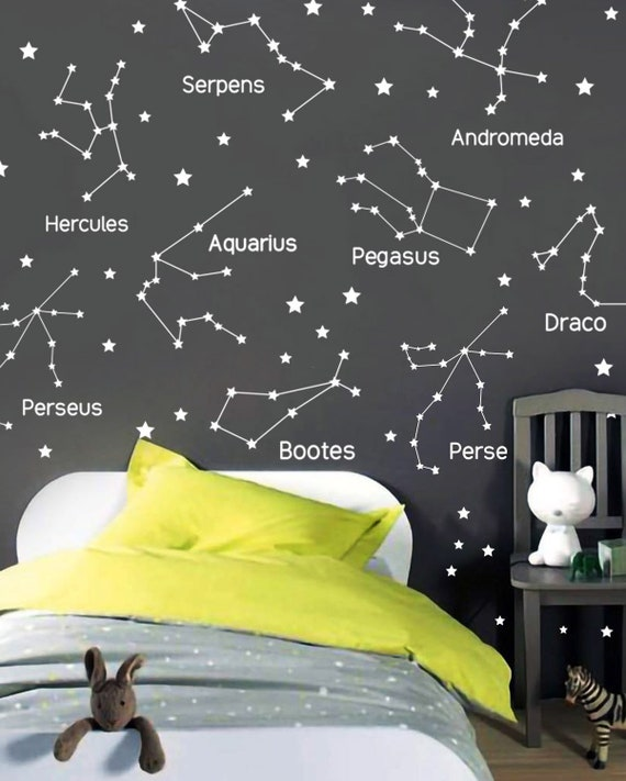 Zodiac Constellation Wall Decals Star Decals Star Wall Stickers GIft for Her ga165 Zodiac Gift Vinyl Wall Decals Wall Decor