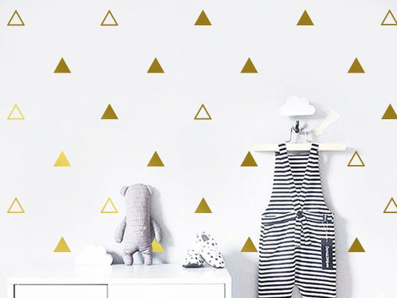 Triangle Wall Decals Triangle Wall Decal Set Vinyl Wall Etsy