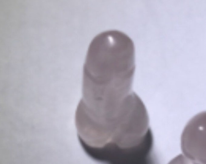 Carved ROSE QUARTZ Penis - 36 mm - Crystal Dick - This Healing Crystal can give off loving vibes CDRS