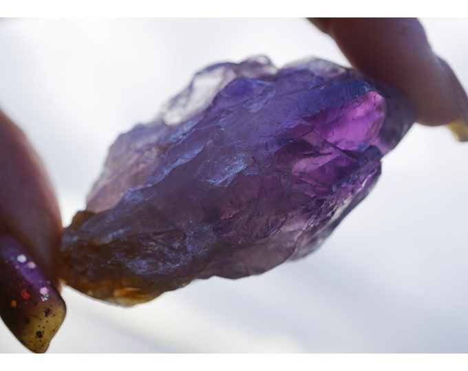 Raw AMETHYST Point (Grade A)  Large and Small - This Healing Crystal can Assist with Addictive Behavior, Cleansing & Spirituality B3