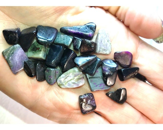 Tumbled SUGILITE Small Stone (Grade A Quality) 10x25mm - This Healing Crystal can provide the Ultimate loving frequency - Free Shipping b3