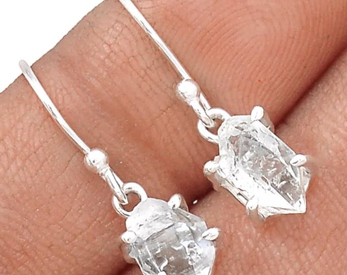 Raw Herkimer Diamond Crystal set in 925 Silver - This Healing Crystal alllows you to access higher thoughts  BN1B BN1D
