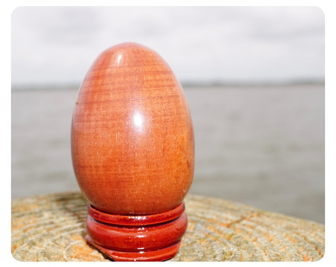 Polished RED JASPER Egg  - This Red Healing Crystal can Heal Physical and Emotional Trauma - 45x35mm, 40x30mm, 30x20mm