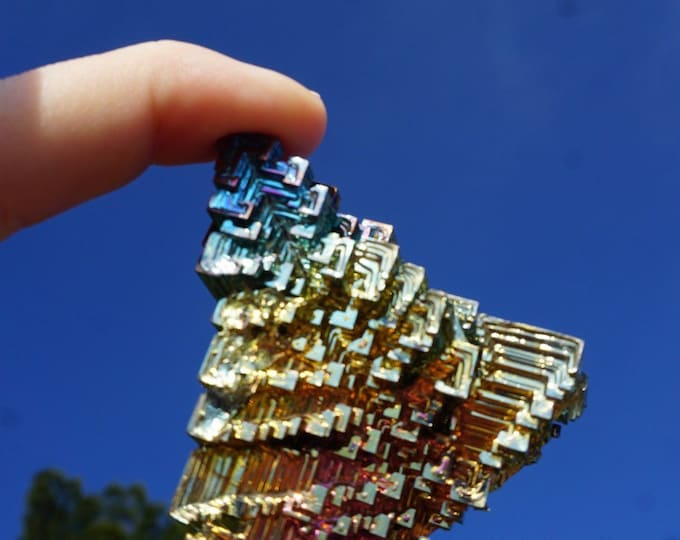 Spectacular Bismuth Crystal (Lab Made) From Germany 99g 65x60x15mm SRBZ1
