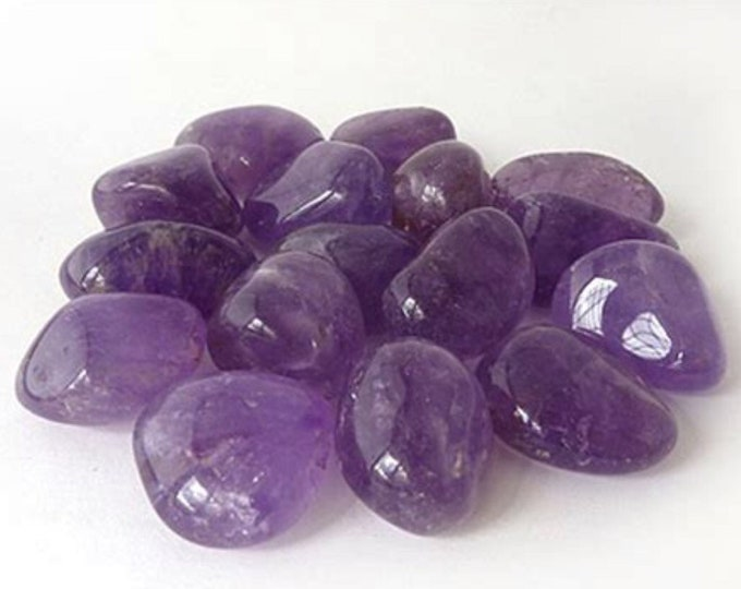 """Tumbled AMETHYST (High Grade A) Medium Stone .75-1.25"""" - This Healing Crystal can Assist with Addictive Behavior, Cleansing & Spirituality"""