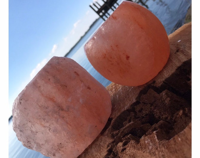 Himalayan Salt Rock Polished or Raw Candleholder Lamp 3-4 inches  (Holds a Tea Candle) (Perfect for Allergies and Eases Stress) A8