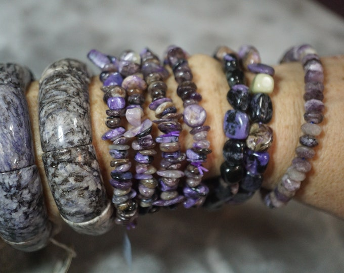 Russian Purple CHAROITE Bracelet 7.2mm - Charoite Beads 4 Styles ~ This Healing Crystal can assist you in letting go of fears BDICH